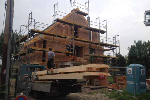 Holzlieferung Dachstuhl