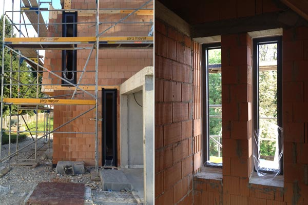 Fensterrahmen von aussen und von innen