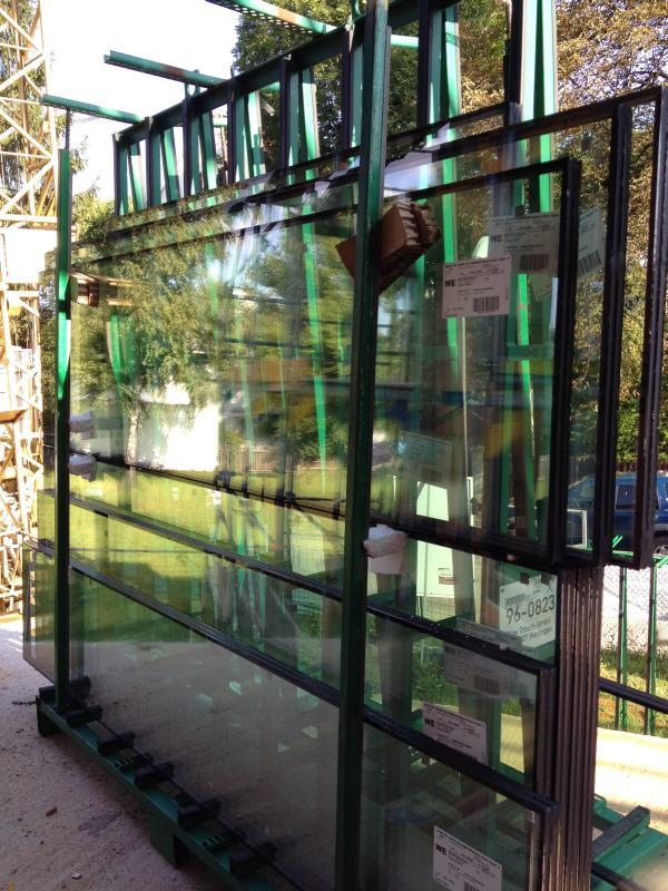 Fensterscheiben vor dem Einbau