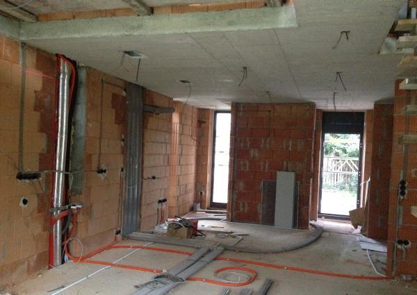 Elektroinstallation im Erdgeschoss