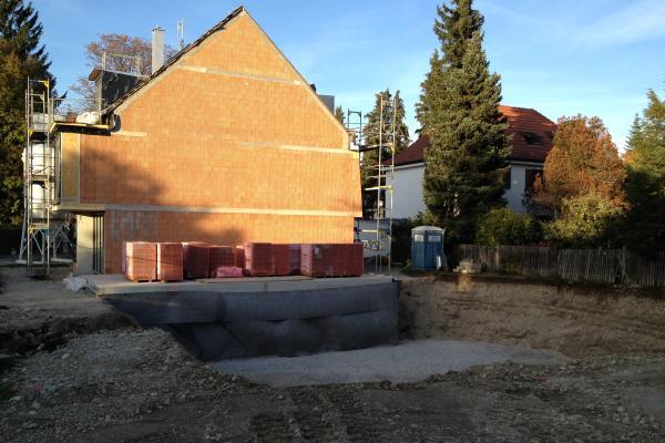 Baugrube Haus 3 & 4