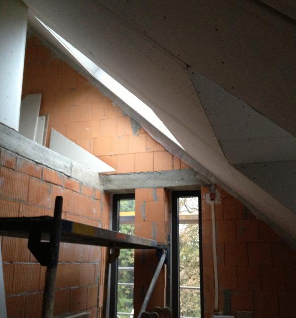 Trockenbauwände im Dachgeschoss