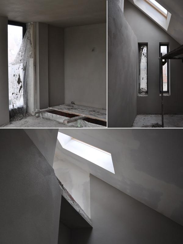 Innenputz in Dach- und Obergeschoss