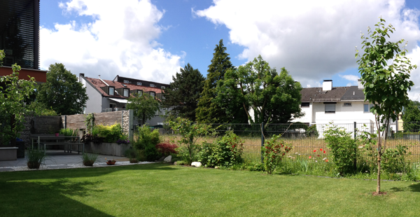 Garten-Ansicht Richtung Westen